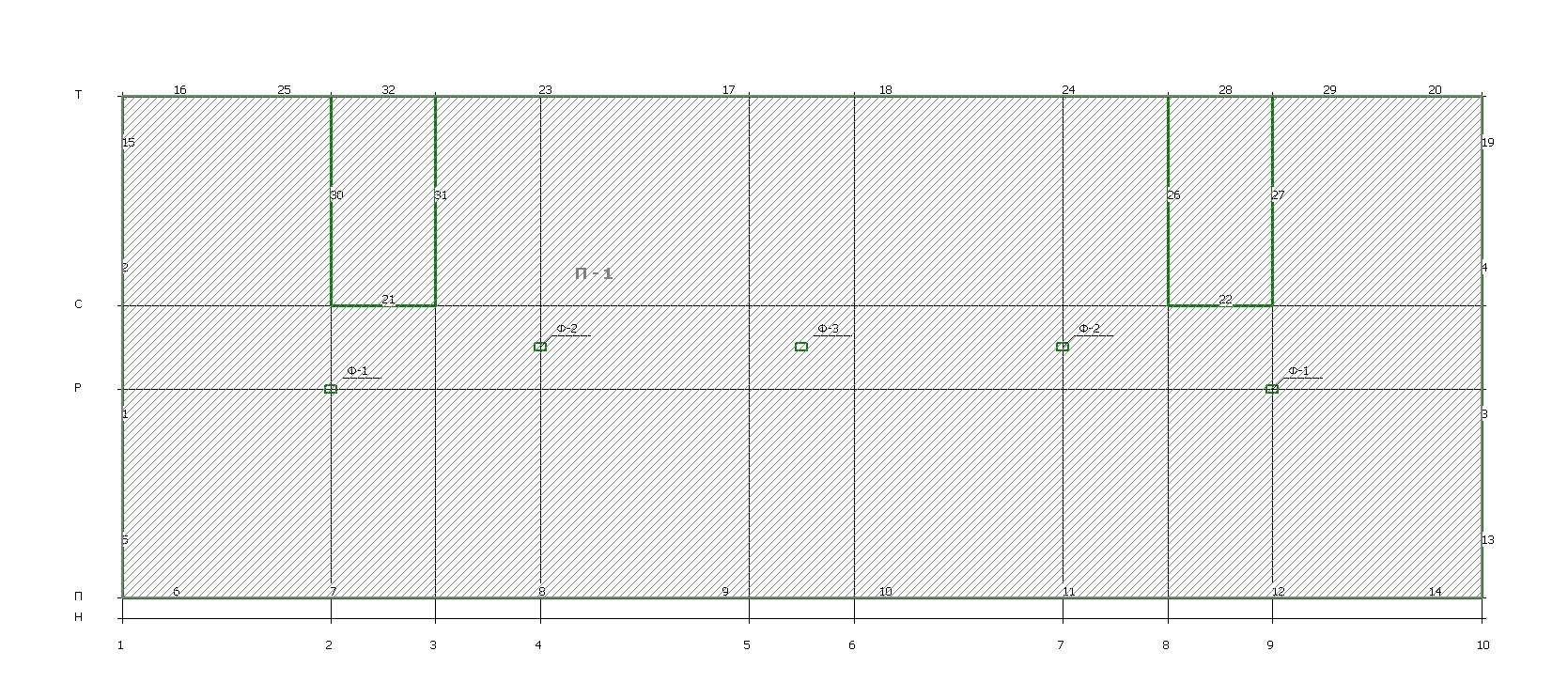 Схема расположения фундаментов и их маркировка